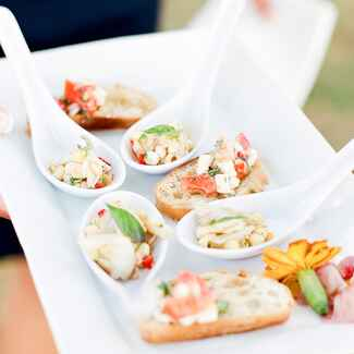 wedding reception appetizer ideas