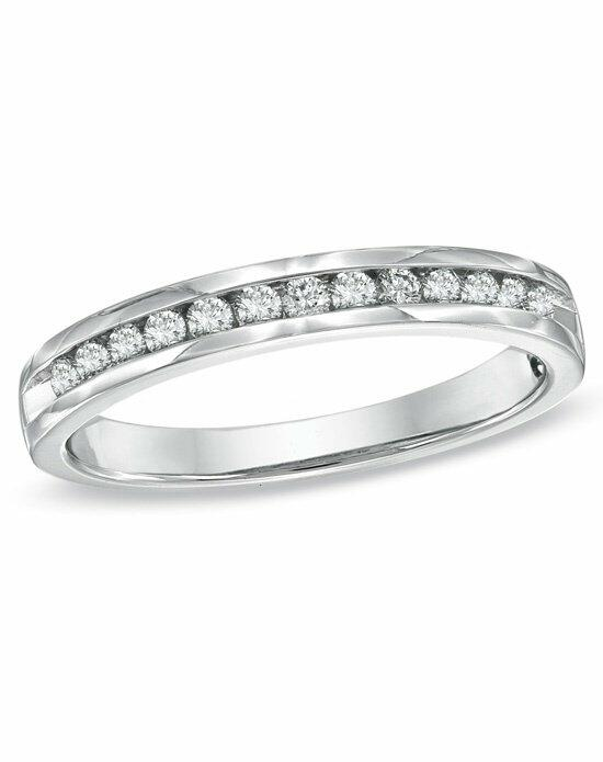 Zales 1/2 CT. T.W. Certified Diamond Anniversary Band in 14K White Gold (H-I/SI1-SI2)  19163484 Wedding Ring photo