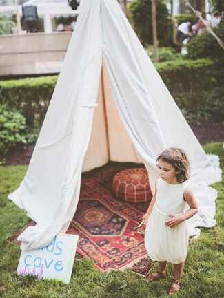 Kids tent idea for an outdoor wedding reception