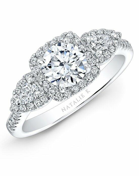 Natalie K Trois Diamants Collection - NK28594-18W Engagement Ring photo