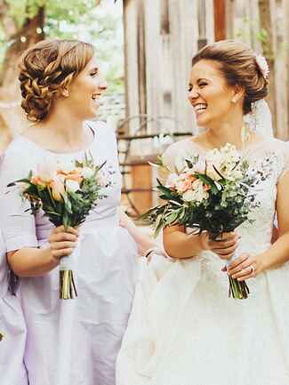 Curled updo hairstyle idea for brides or bridesmaids