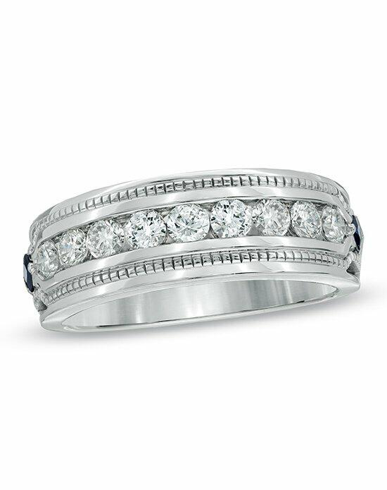 Vera Wang LOVE at Zales Vera Wang LOVE Collection Men's 1 CT. T.W. Diamond Wedding Band in 14K White Gold  19683242 Wedding Ring photo