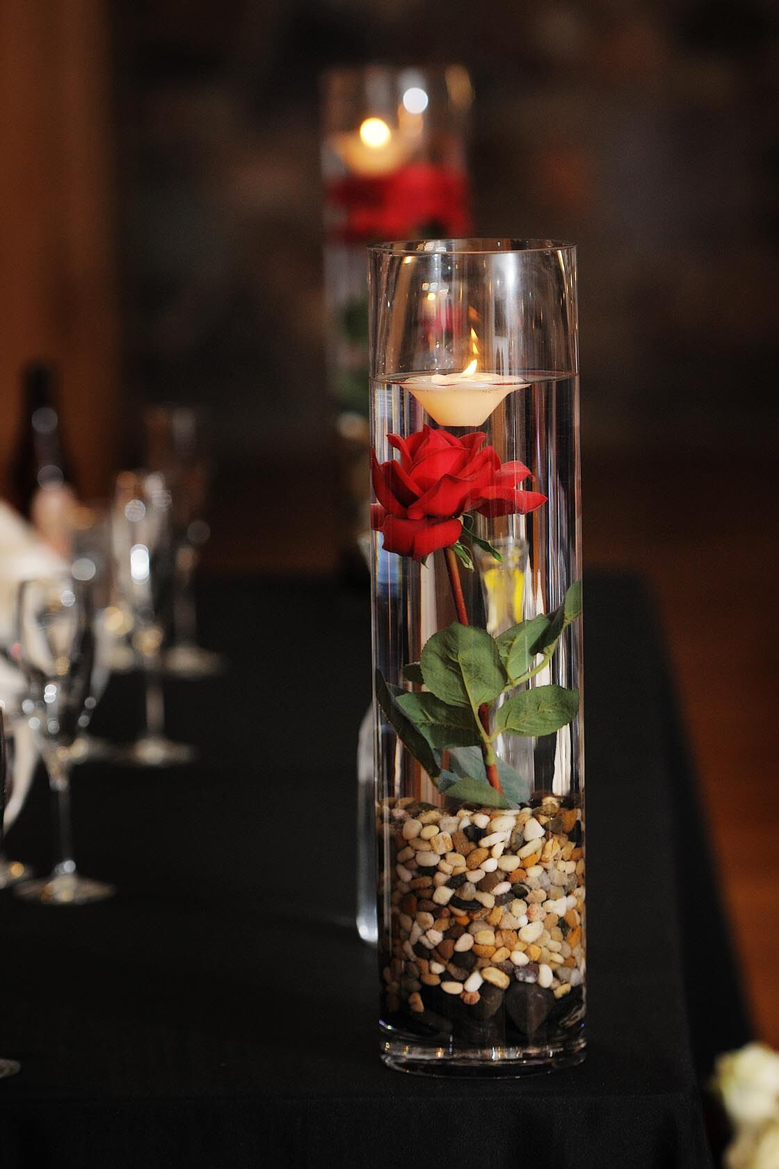 Diy Rose Floating Candle Centerpieces
