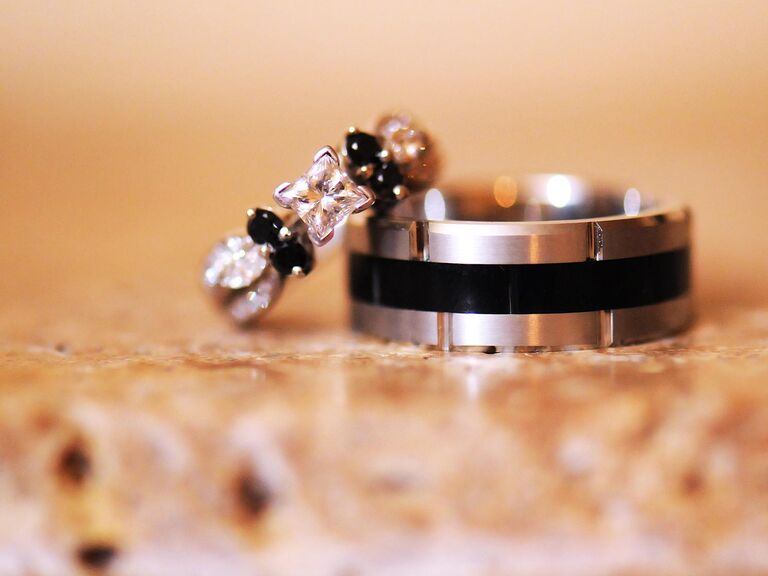 Real Black Engagement Rings
