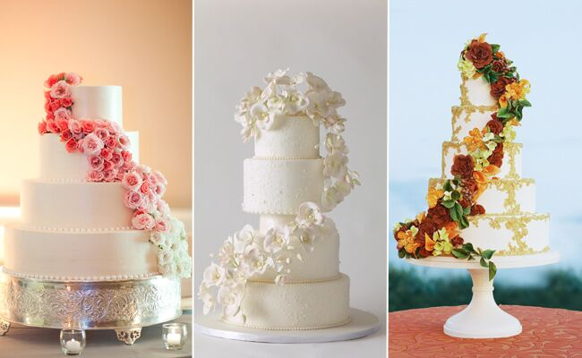 5 tier wedding cake with cascading flowers 7 twists on the cascade cake 10476