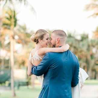 Florida bride groom palm trees