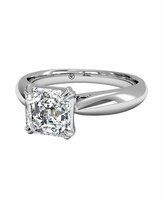 Ritani Asscher Cut Solitaire Diamond Tulip Cathedral Engagement Ring in Platinum Engagement Ring photo