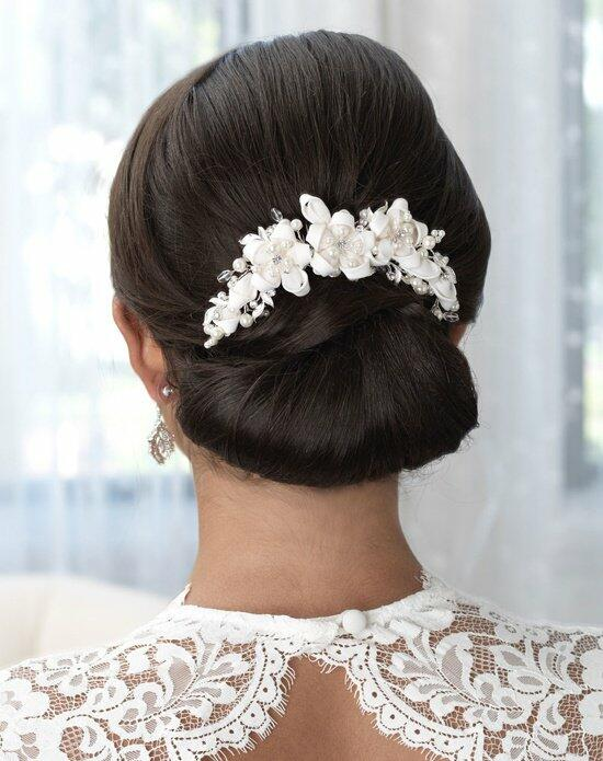 USABride Ivory Satin Ribbon Comb TC-2240 Wedding Pins, Combs + Clips photo