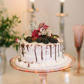 Rustic wedding cakes one tier cutting cake with fresh berries junglespirit Gallery
