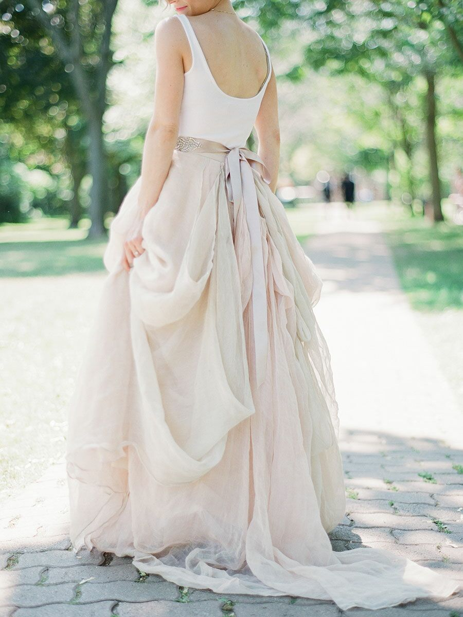 b76c064d823 This Bride Gave Away Her Wedding Skirt for the Sweetest Reason