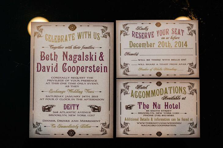 Custom Vintage-Inspired Wedding Invitations