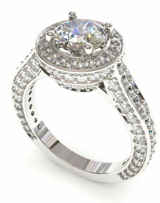 Enchanted Diamonds Halo Micropave‎ Round HL15-4W-R Engagement Ring photo