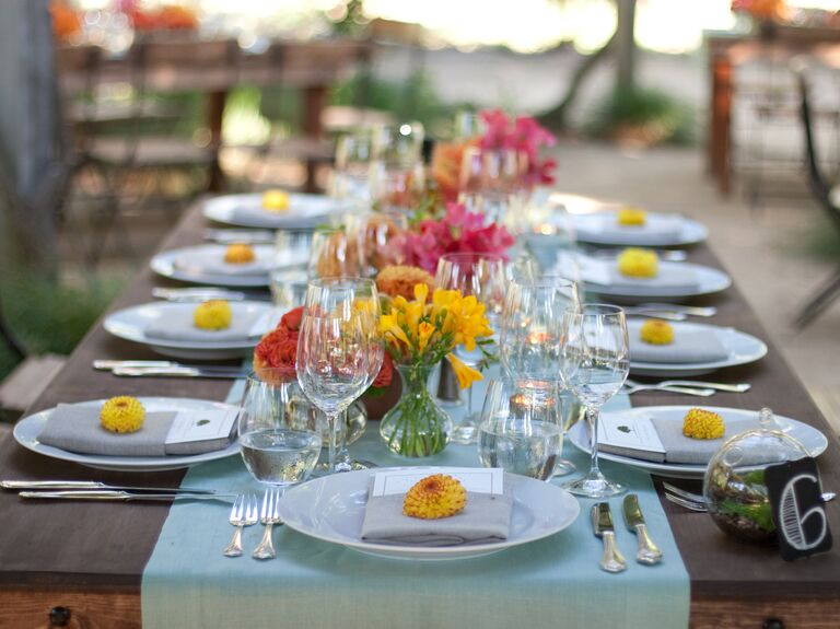 Flower place setting