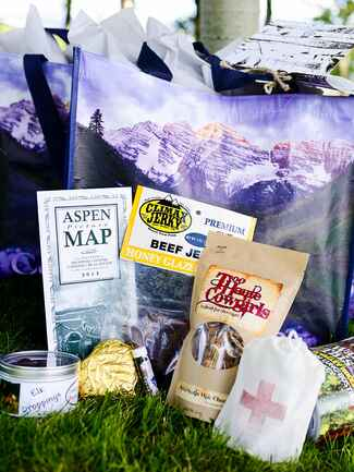 Welcome bag with weather proof essentials