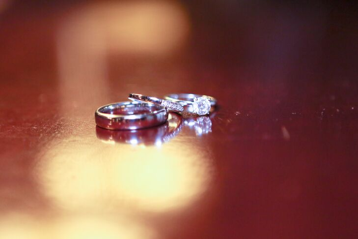 Silver Engagement and Wedding Rings