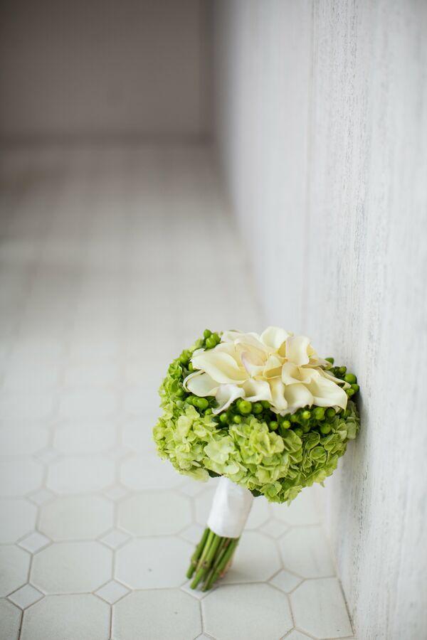 Silver wedding bouquets hypericum calla lily and hydrangea bouquet mightylinksfo