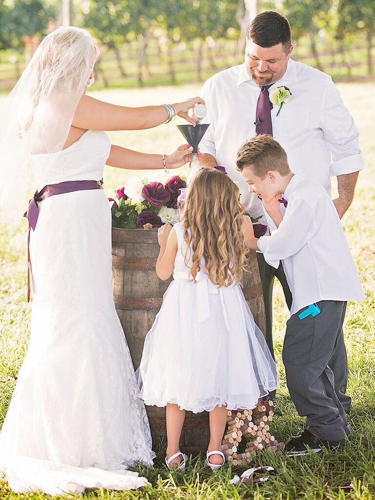 Unity Sand Wedding Ceremony Idea With Children