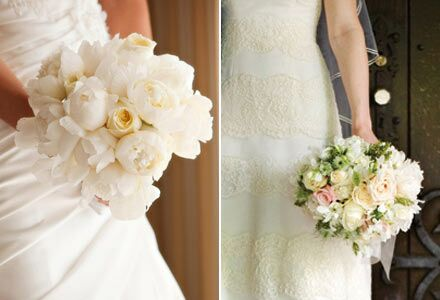 A Huge Wedding At Romantic French Inspired Mansion And Gorgeous Traditional Dress Calls For Lush All White Bouquet Dotted With Few
