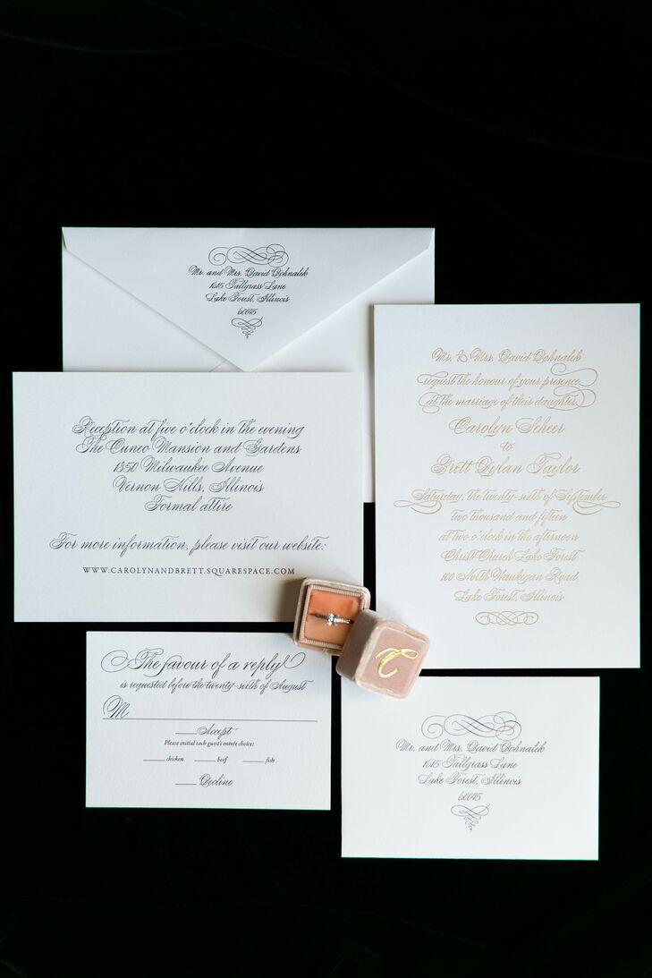 Classic Formal Script Wedding Invitations