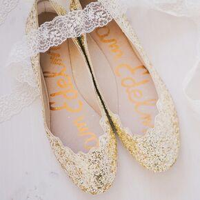 Gold Foil Bridal Flats