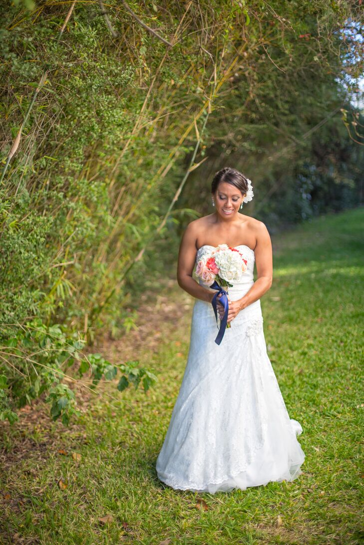 a simple backyard wedding at a private residence in mary esther
