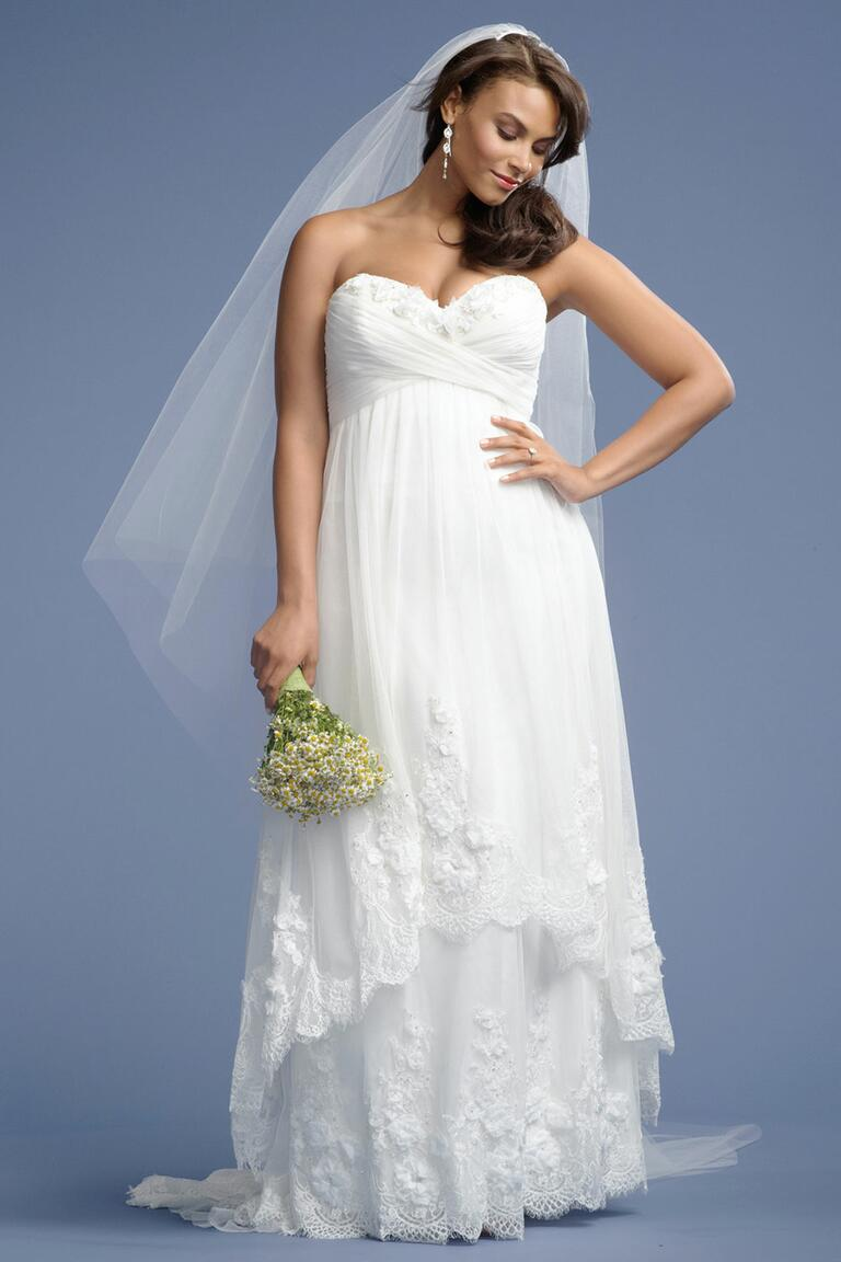 White empire waist dress plus size dress blog edin for Empire waist plus size wedding dress