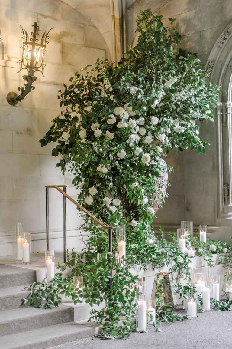The Knot Dream Wedding 2017 roses and greenery