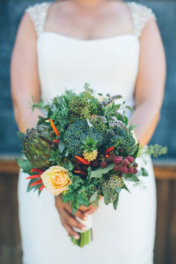 Fresh Fruit and Vegetable Bouquet
