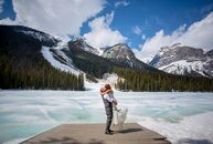 Brianne Stone (28 and an information manager) and Michael Hunter (28 and an electrician) held their romantic, intimate wedding at Emerald Lake Lodge i