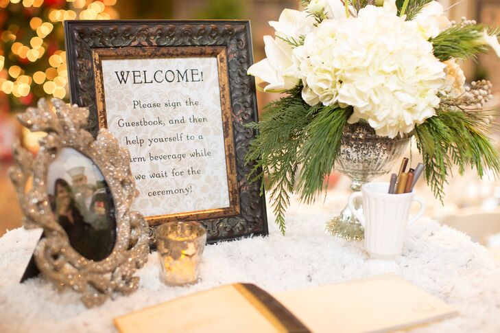 Winter Wonderland Welcome Table With Guest Book