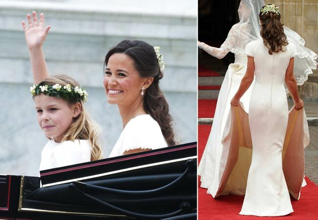 Pippa Middleton's bridesmaid dress: Shutterstock; Popsugar / The Knot