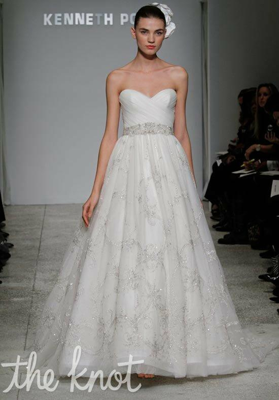 Kenneth Pool Flirtation Wedding Dress photo