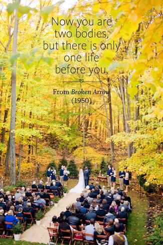 Broken Arrow wedding ceremony reading
