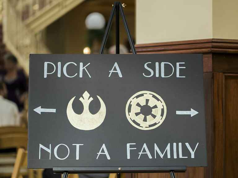 Star Wars ceremony seating sign