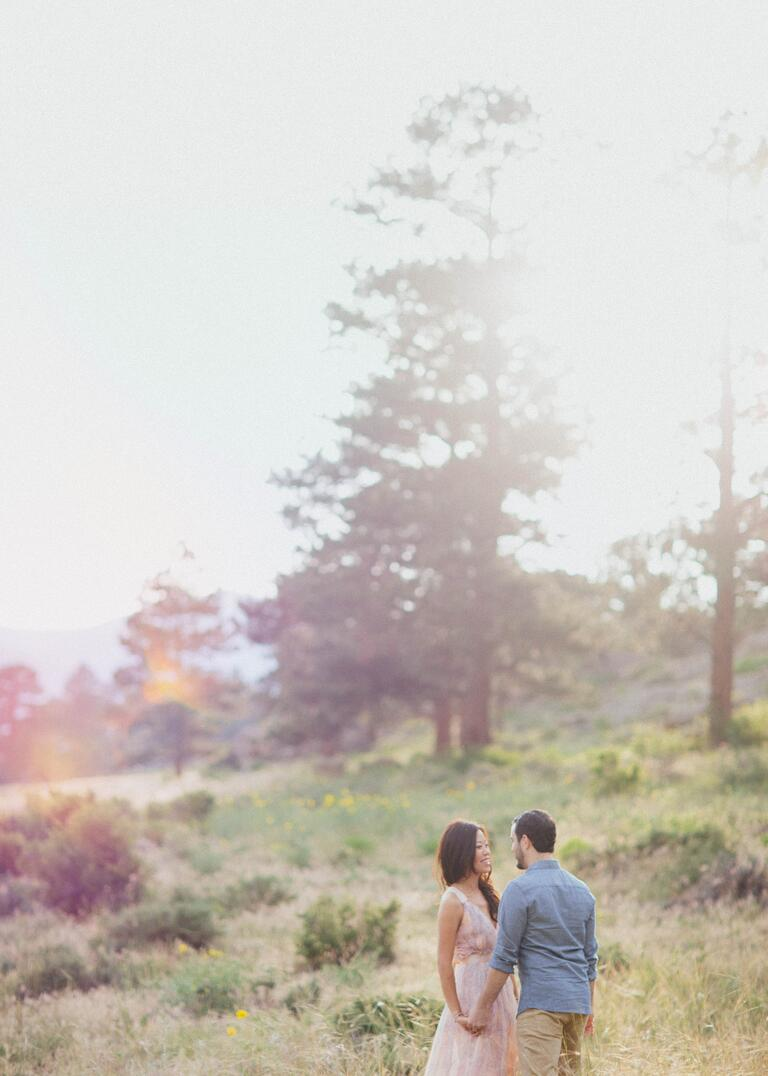 Estes park, Colorado engagement photography