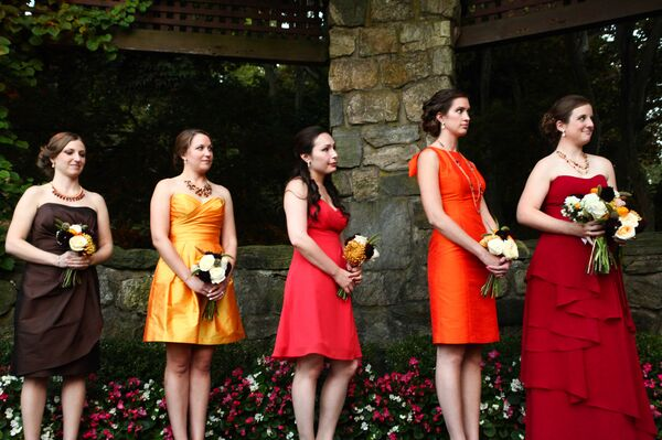 Fall Inspired Bridesmaid Dresses