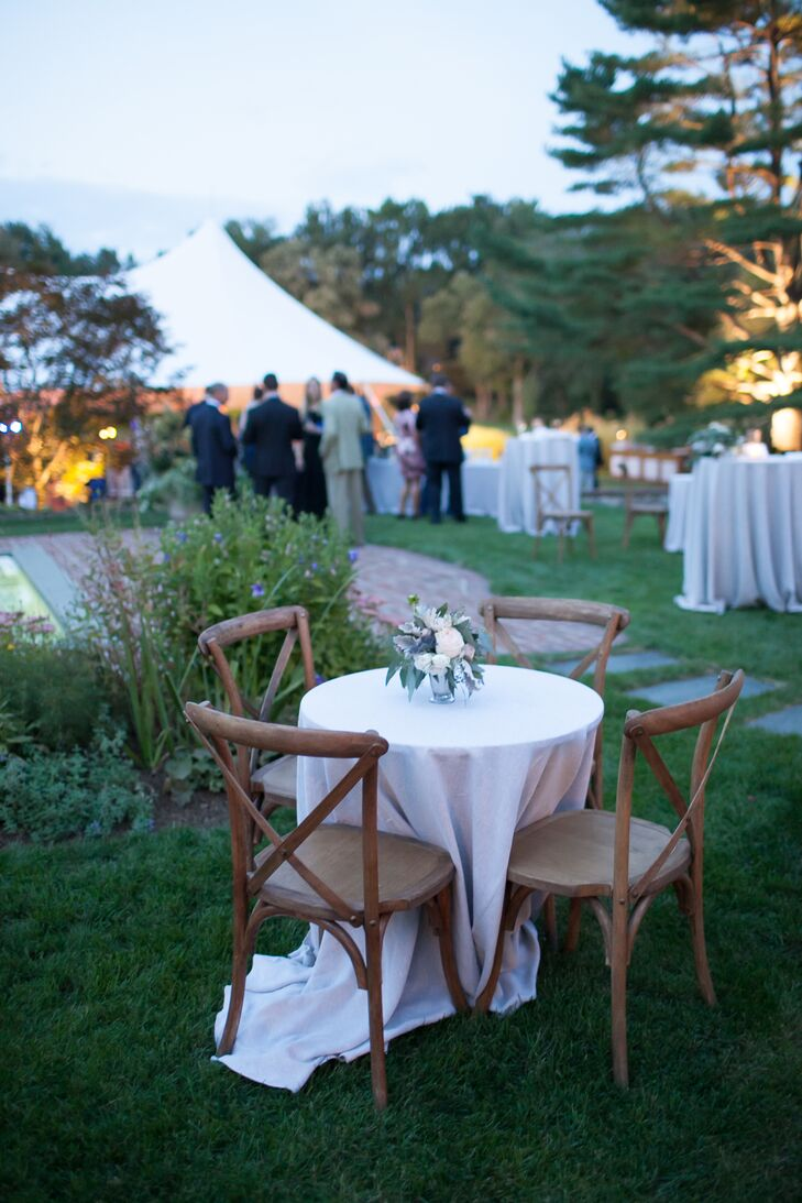 a sophisticated at home wedding with garden inspired flair at a