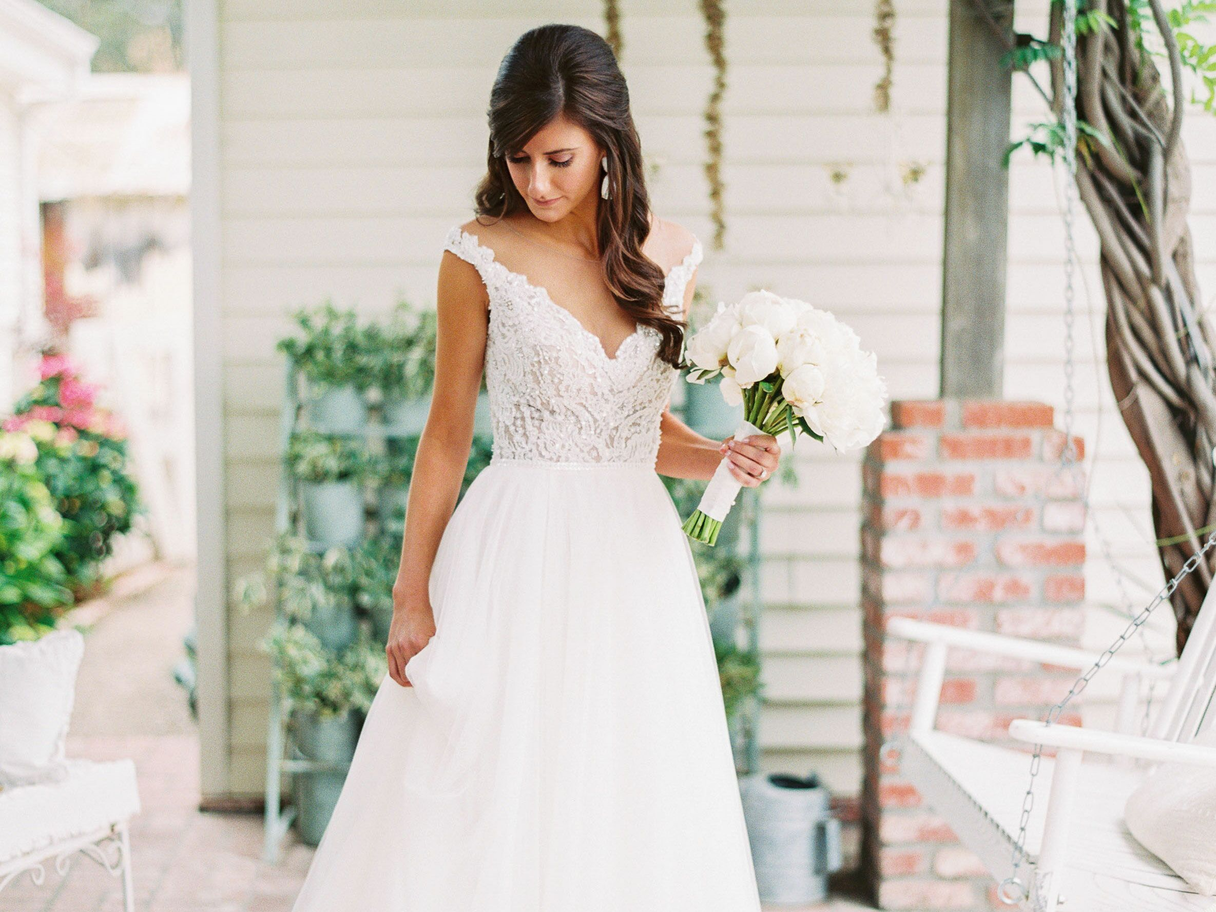 Match Your Hairstyle to Your Wedding Dress Neckline