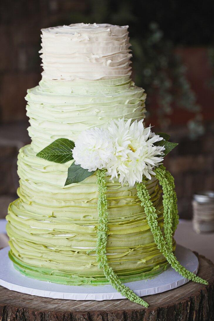 These Green Ombre Wedding Cakes Are Perfect For St