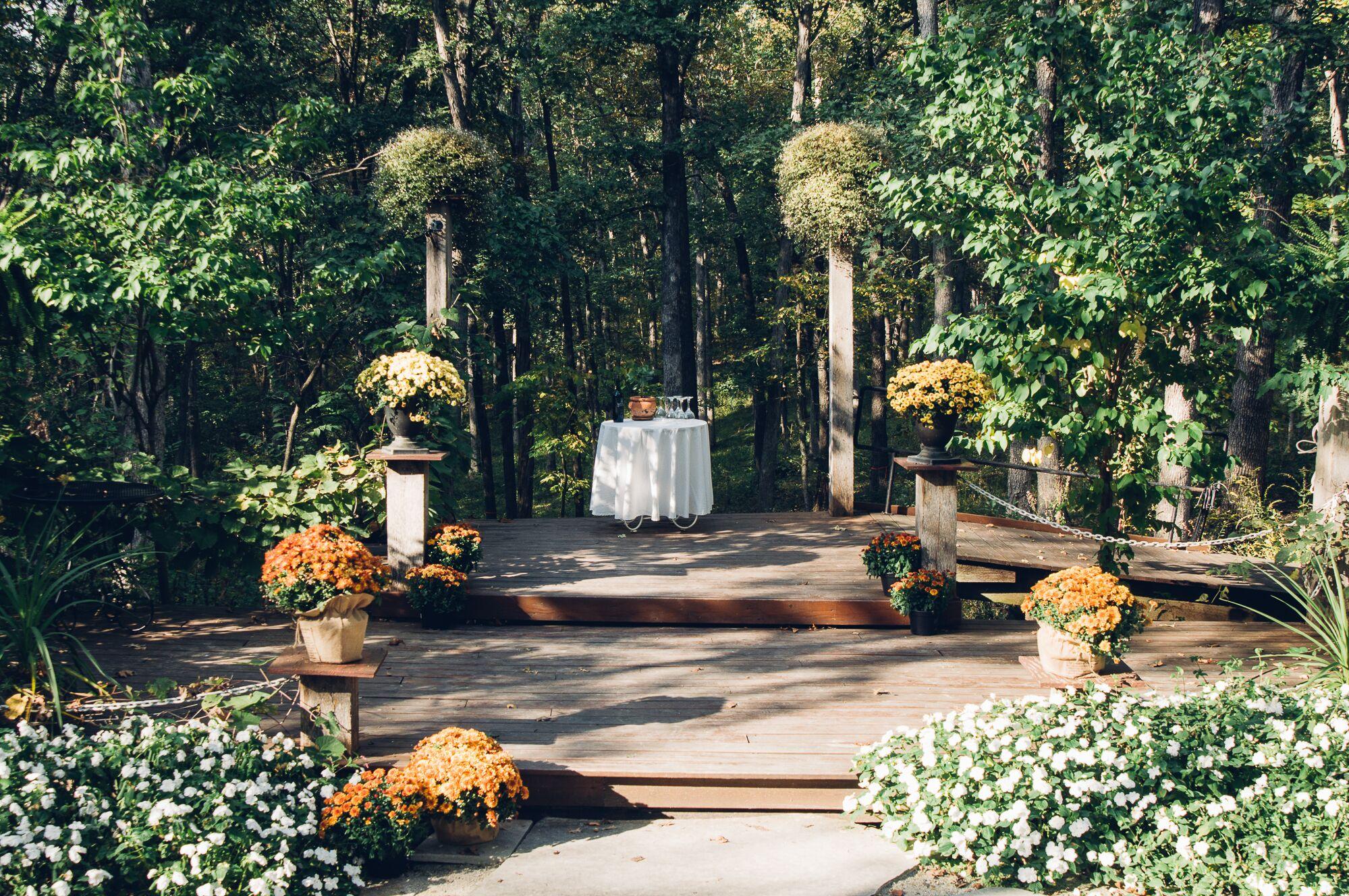 alpine park and gardens outdoor ceremony venue