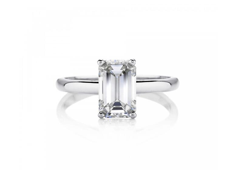 De Beers Emerald Cut Engagement Ring