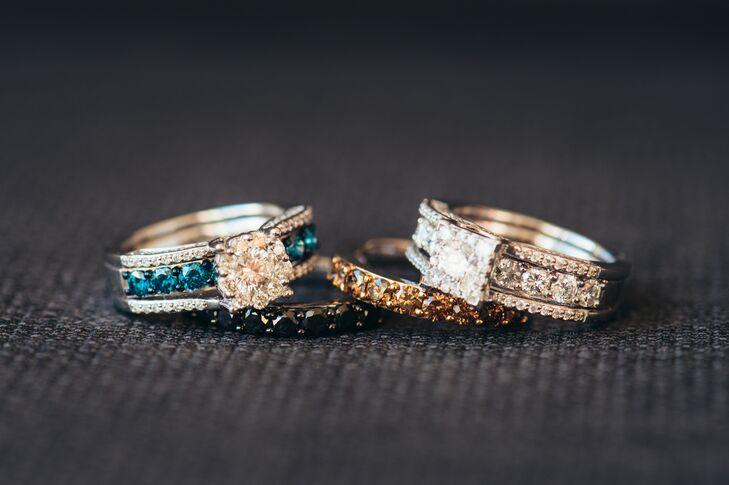 unique colorful engagement rings