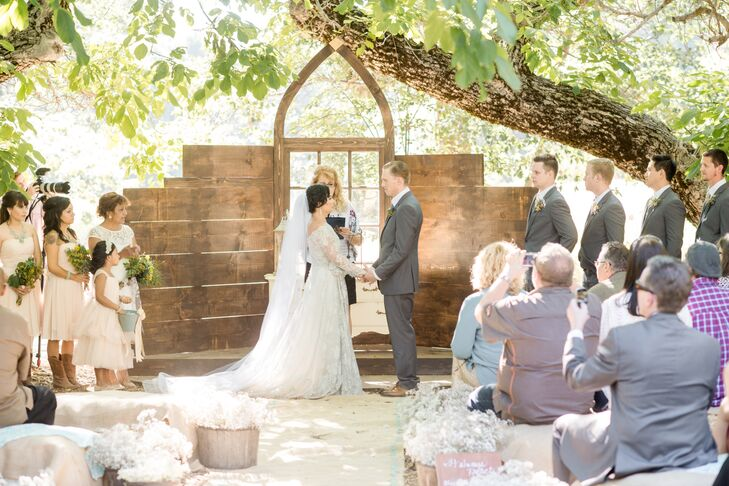 Wedding Ceremony Wood Altar Platform