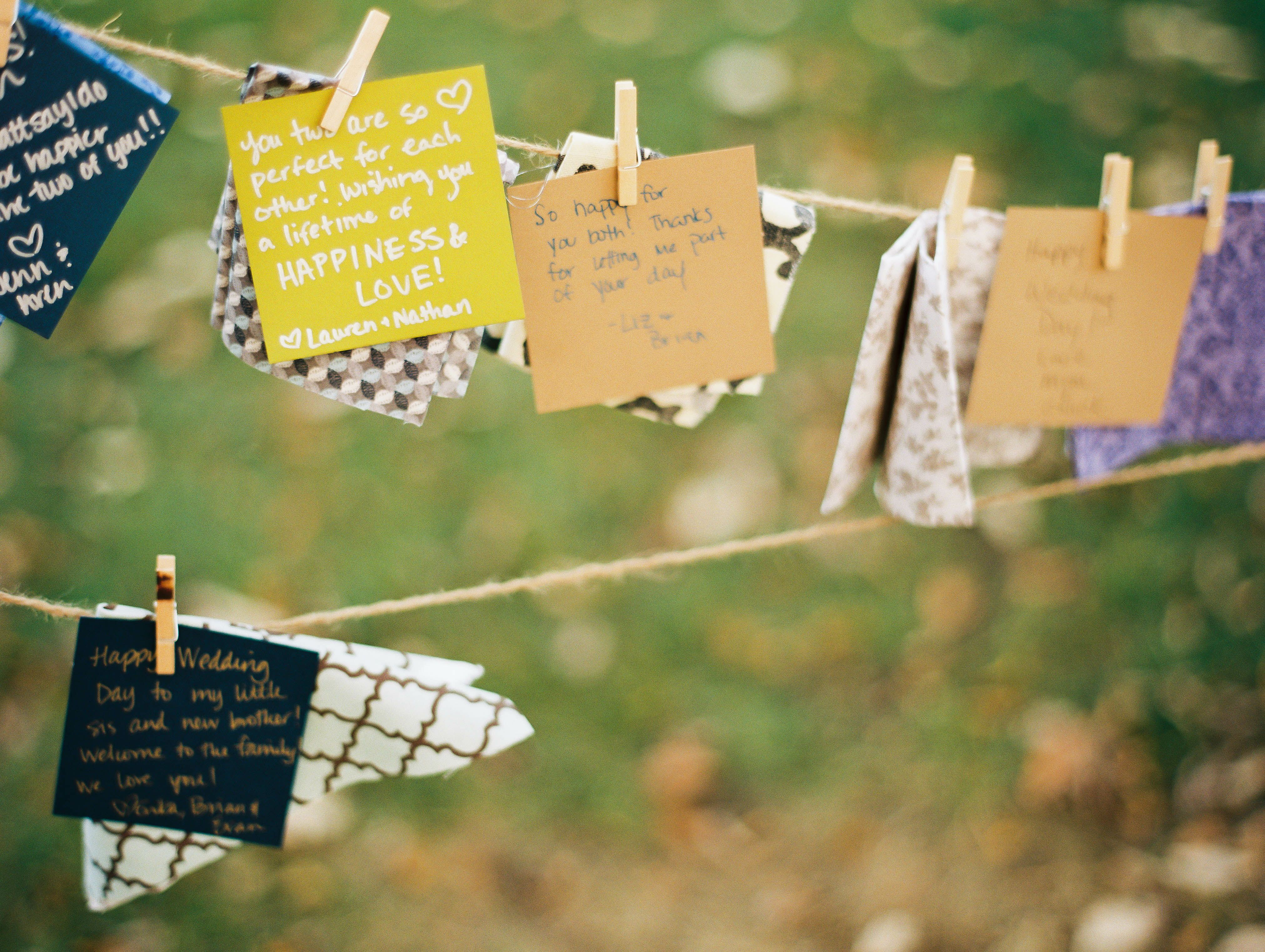 Quilt Square Guest Book Notes