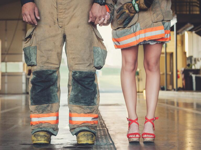 Firefighter and Fiance Engagement Photo Session