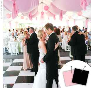 Wedding Color Combo: Light Pink + Black
