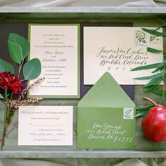 Fall themed invitations rustic
