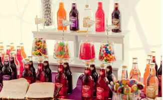 soda and candy dessert bar