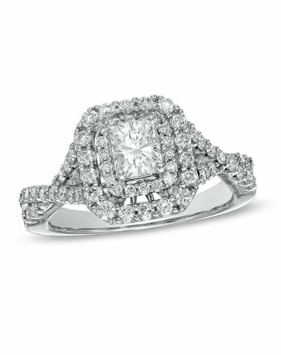 Zales 1-1/4 CT. T.W. Certified Radiant-Cut Diamond Double Frame Engagement Ring in 14K White Gold (H-I/I1)   18805523 Engagement Ring photo