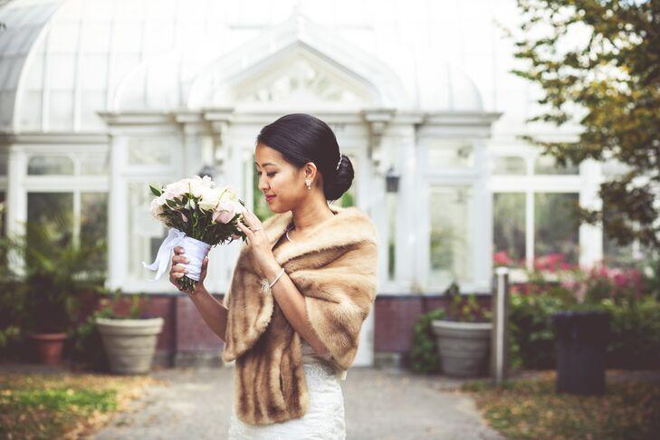 Mink Fur Stole Wedding Dress Wrap